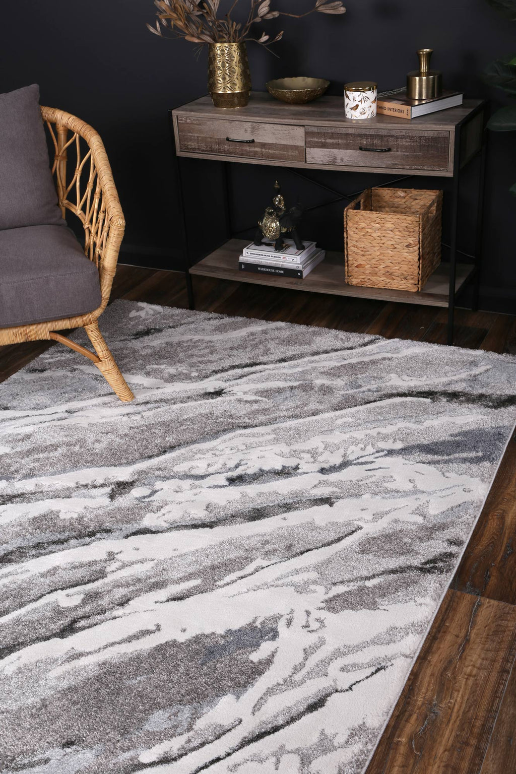 Yuzil Multi Abstract Wave Rug