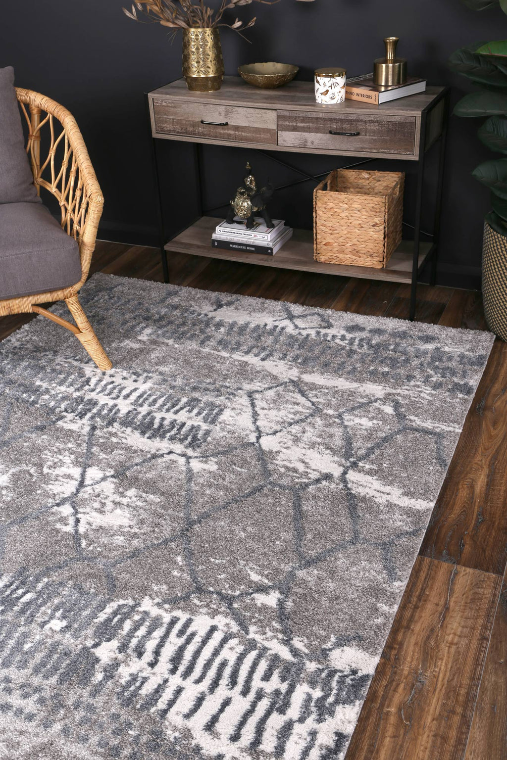 Yuzil Blue Abstract Rug