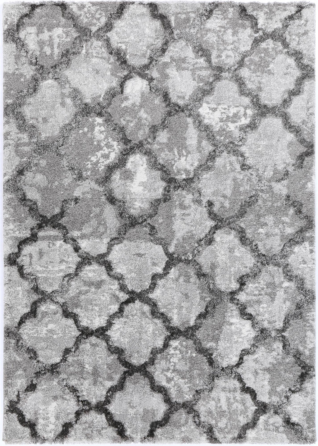 Yuzil Grey Lattice Rug