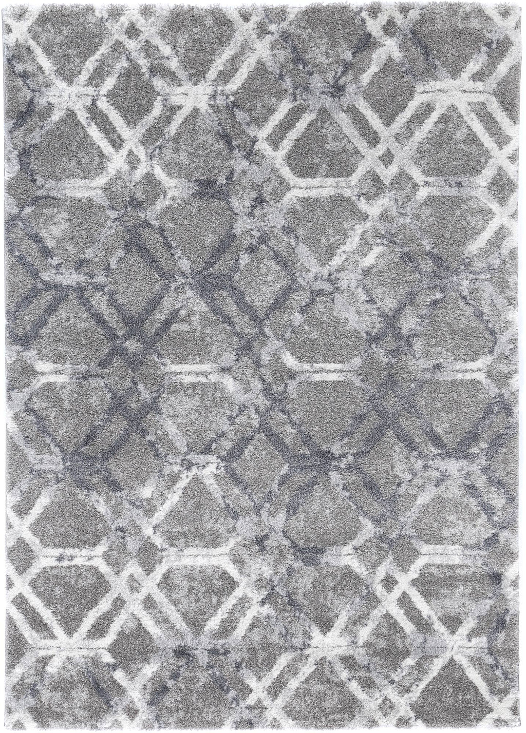 Yuzil Blue Lattice Rug