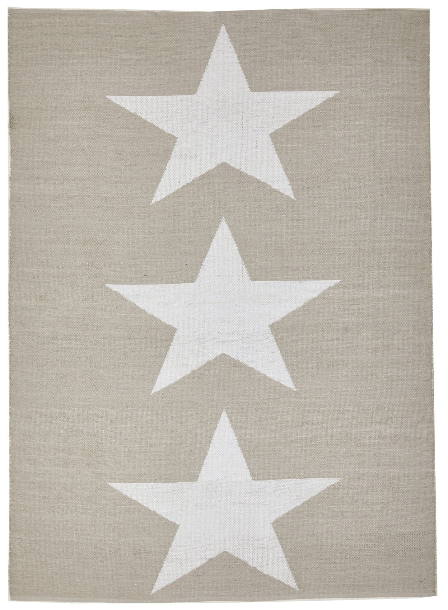 Coastal Indoor Out door Rug Star Taupe White
