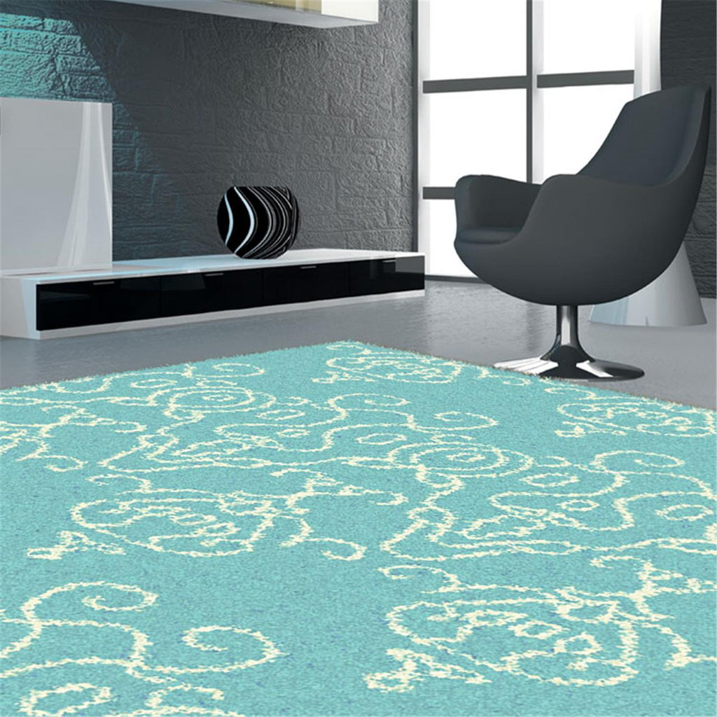 Comfort Shag Crown Turquoise Rug