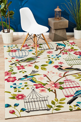 Finch and Nest Exquisite Indoor Outdoor Rug Cream