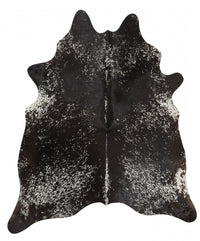 Exquisite Natural Cow Hide Salt & Pepper Black