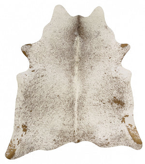 Exquisite Natural Cow Hide Salt & Pepper Brown