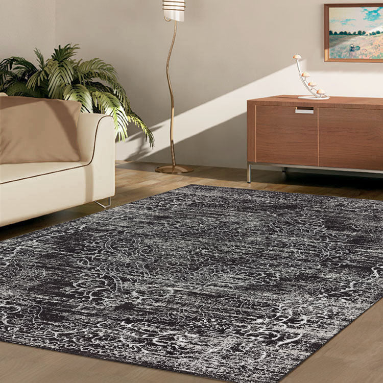 Glamor Beauty Dark Grey Rug