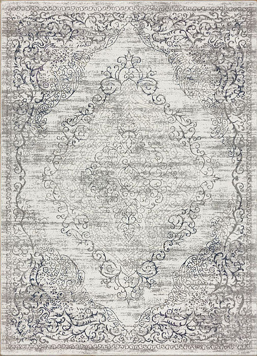 Glamor Beauty Light Grey Runner Rug