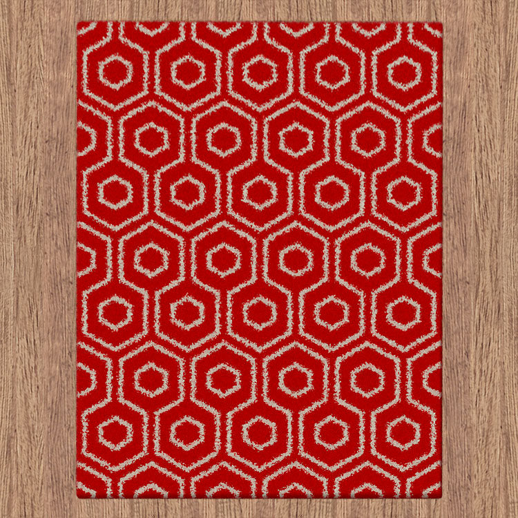 Comfort Shag Hive Red Rug