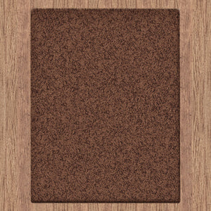 Comfort Shag Plain Brown Rug