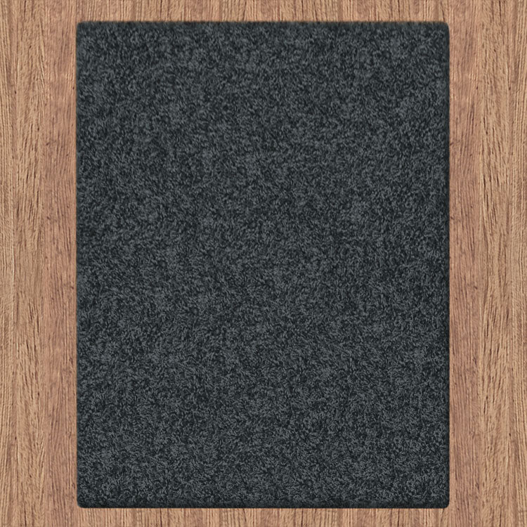 Comfort Shag Plain Dark Grey Rug