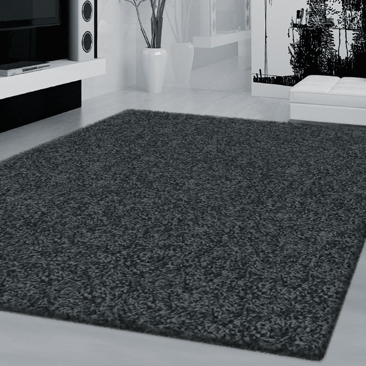 Comfort Shag Plain Dark Grey Runner Rug