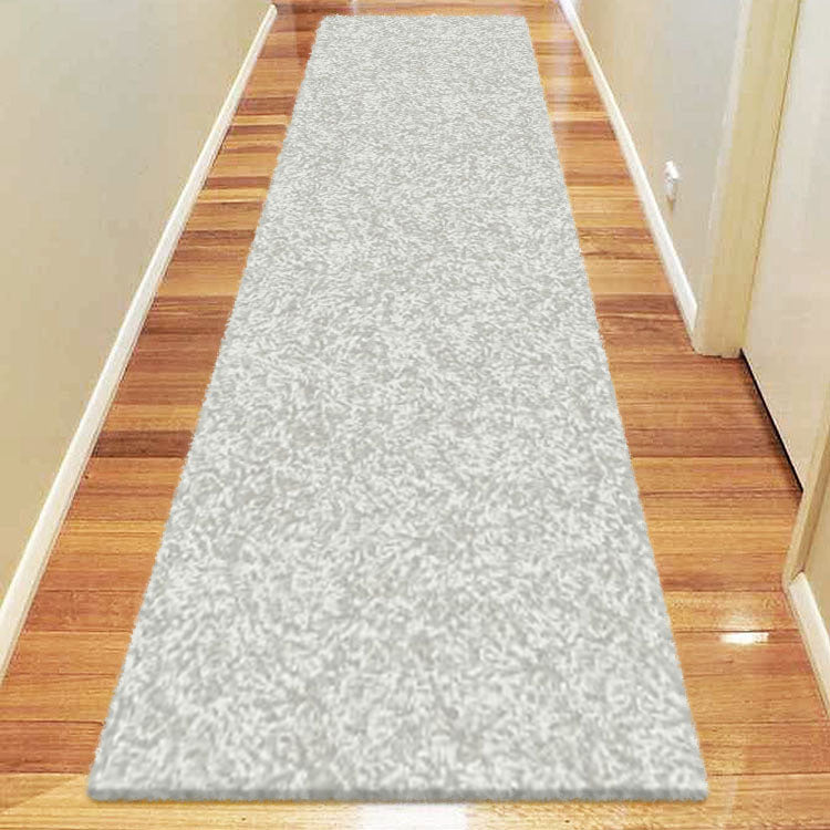 Comfort Shag Plain Light Grey Runner Rug