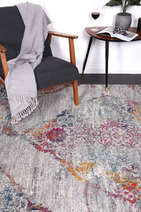 Graceful Oriental Multi Grey Rug