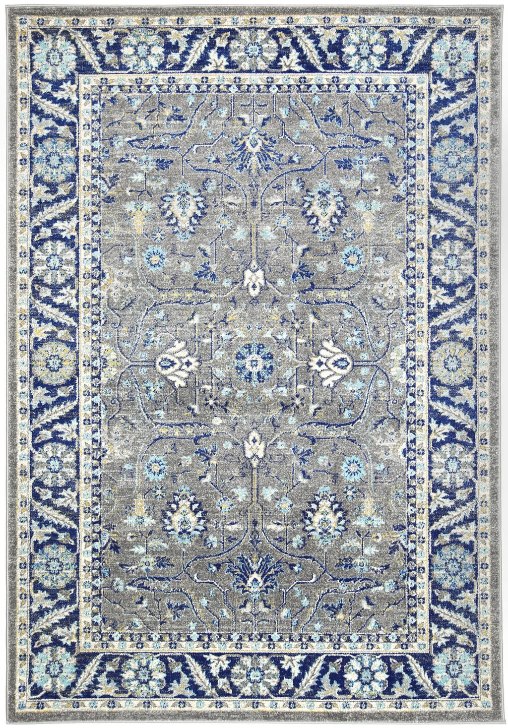 Graceful Oriental Navy Blue Rug
