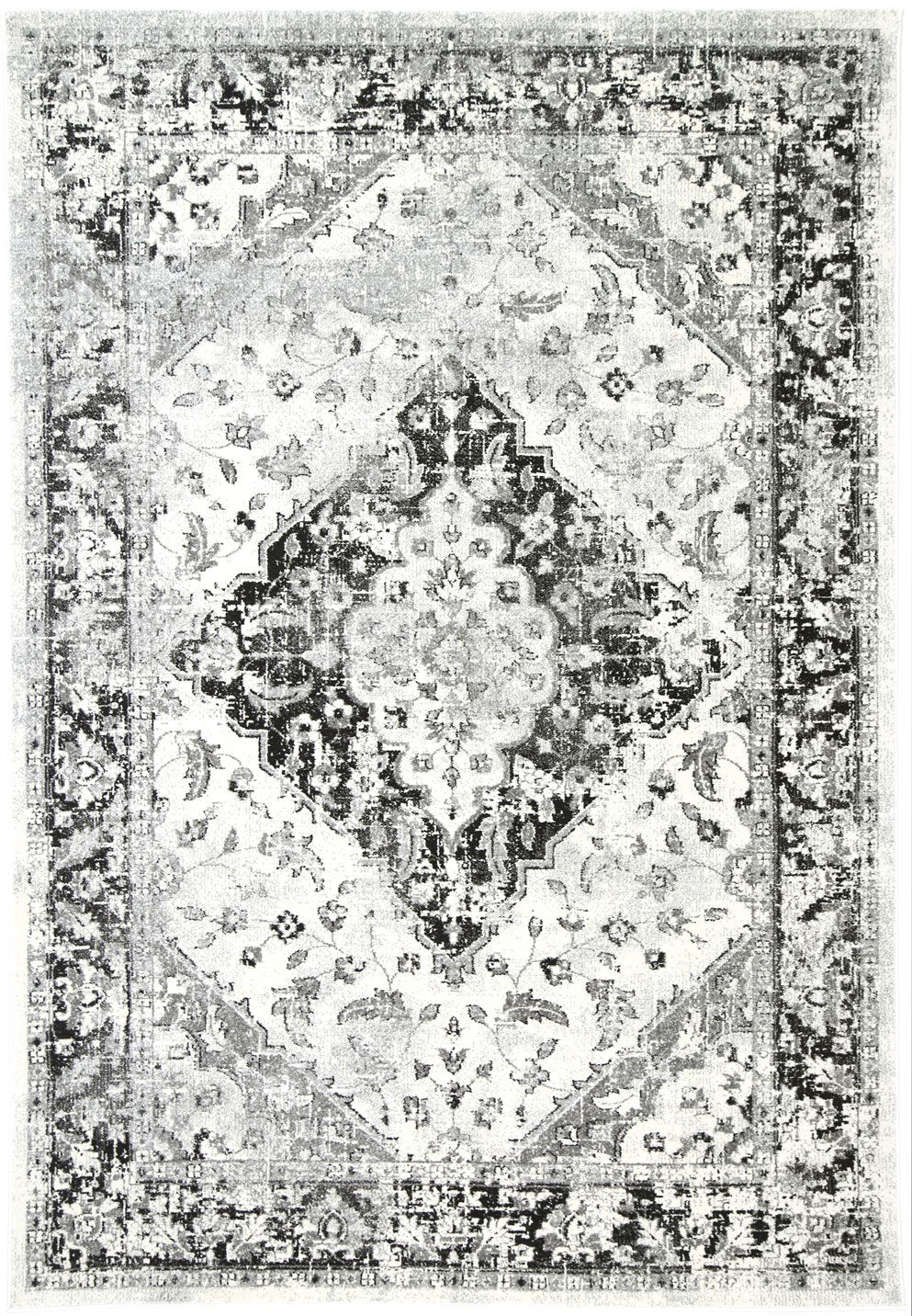 Graceful Temporal Grey Rug