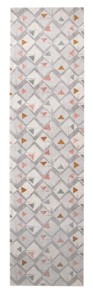 Divinity Time Grey Modern Runner Rug