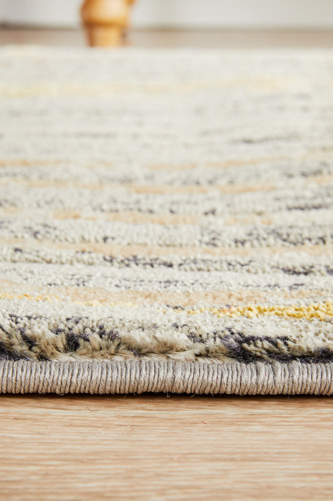 Flurry Modern Charcoal Runner Rug