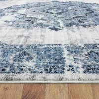 Twilight Blaze Blue Runner Rug