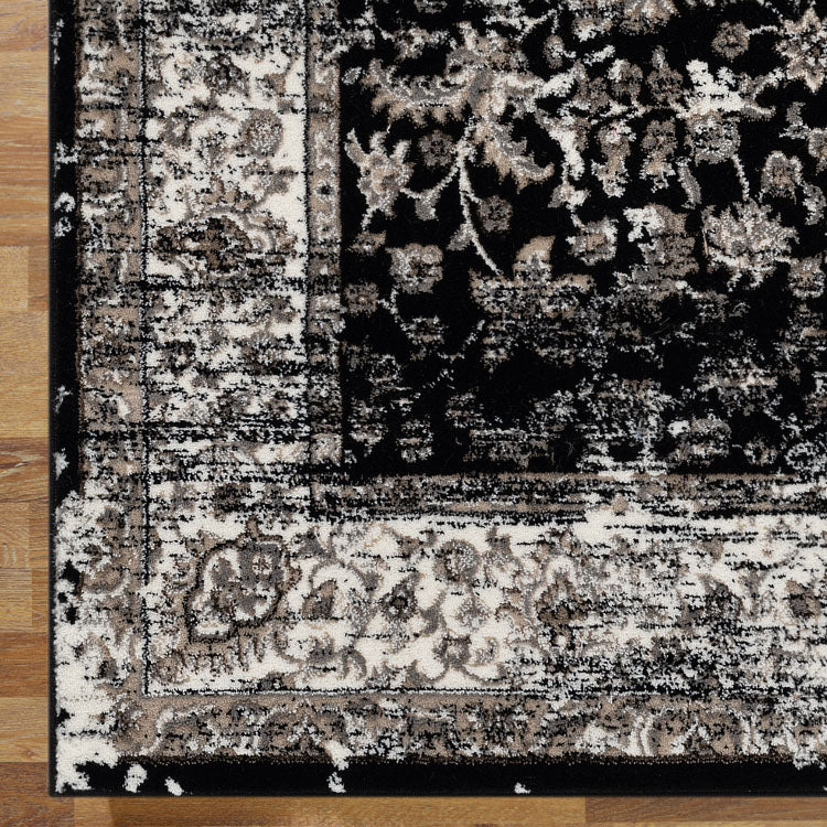 Progeny Series Black Runner Rug