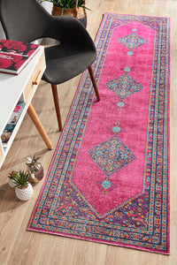 Whisper Diamond Pink Runner Rug