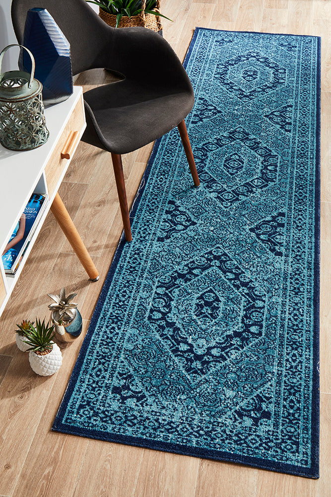 Whisper Vision Blue Runner Rug