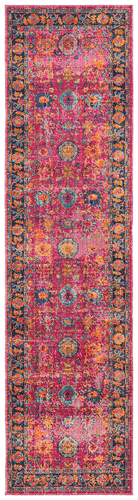 Whisper Corners Pink Runner Rug