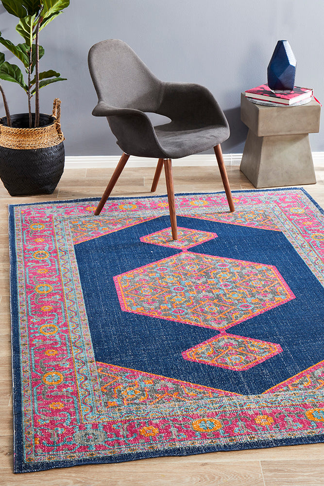 Whisper Blink Navy Rug