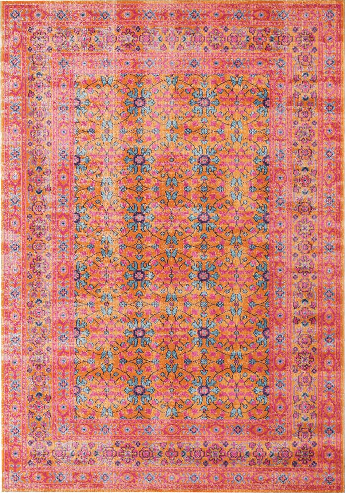 Whisper Sunset Rust Rug