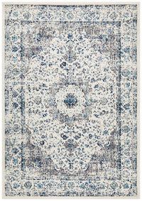 Summon Mist White Transitional Rug