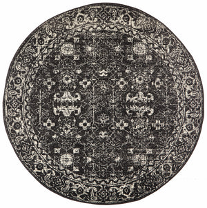 Summon Estella Charcoal Transitional Round Rug