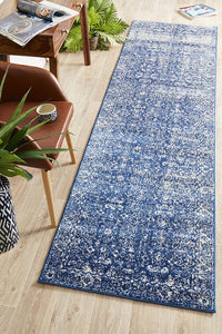 Summon Oasis Navy Transitional Runner Rug