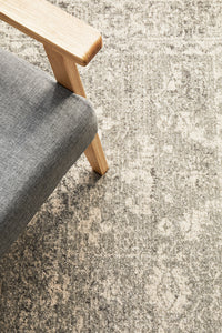 Summon Shine Silver Transitional Rug