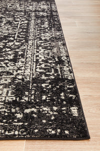 Summon Scape Charcoal Transitional Rug