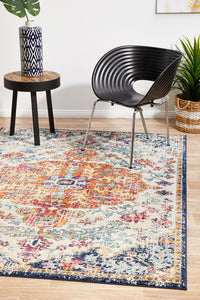 Summon Carnival White Transitional Rug