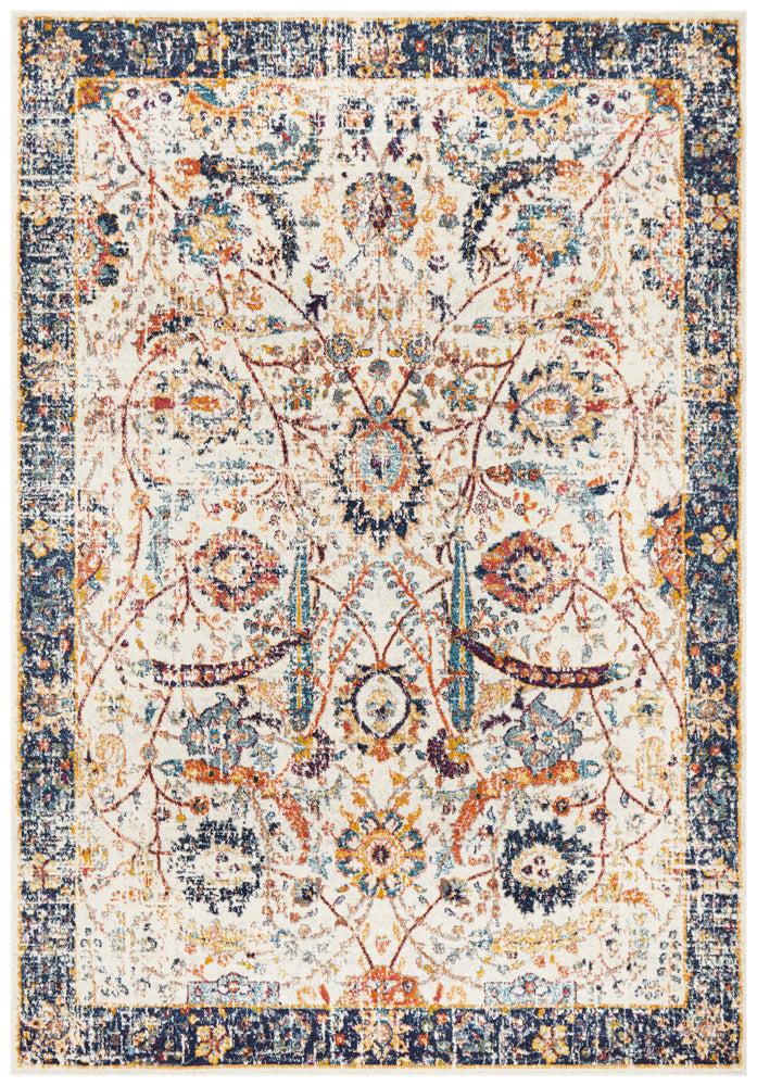 Summon Peacock Ivory Transitional Rug