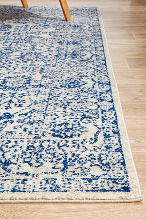 Summon Frost Blue Transitional Rug