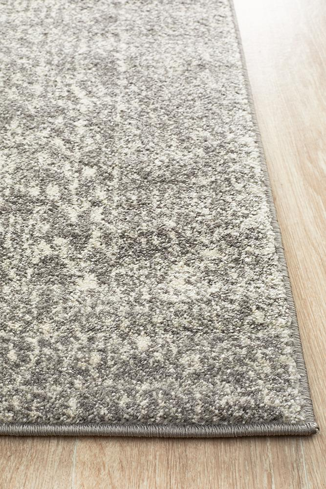 Summon Homage Grey Transitional Runner Rug