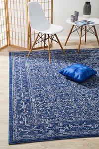 Summon Artist Navy Transitional Rug