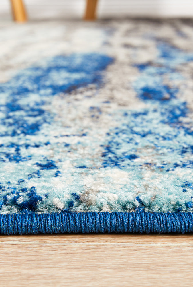 Summon Transpose Blue Transitional Rug