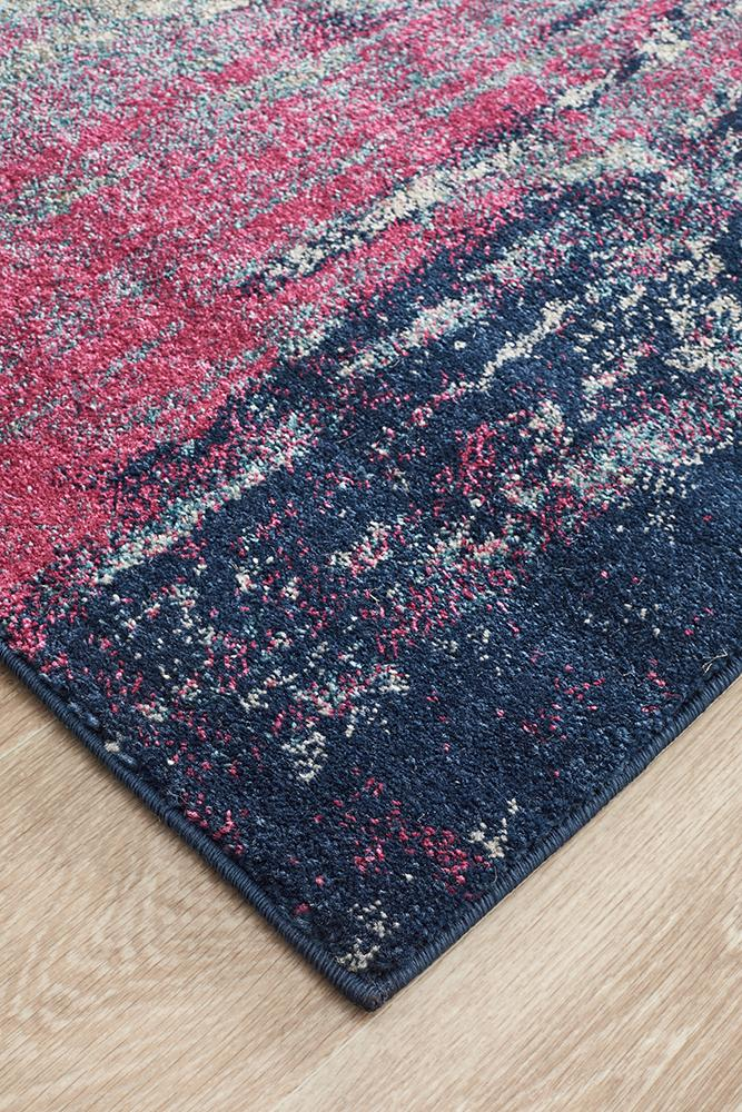 Summon Bedrock Stone Transitional Runner Rug