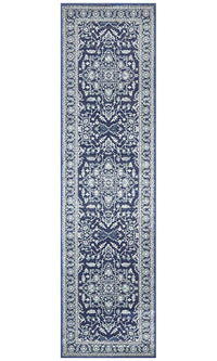 Summon Release Navy Transitional Runner Rug