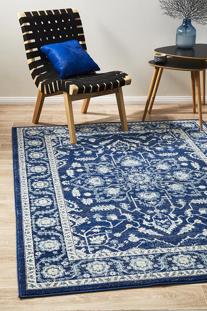 Summon Release Navy Transitional Rug