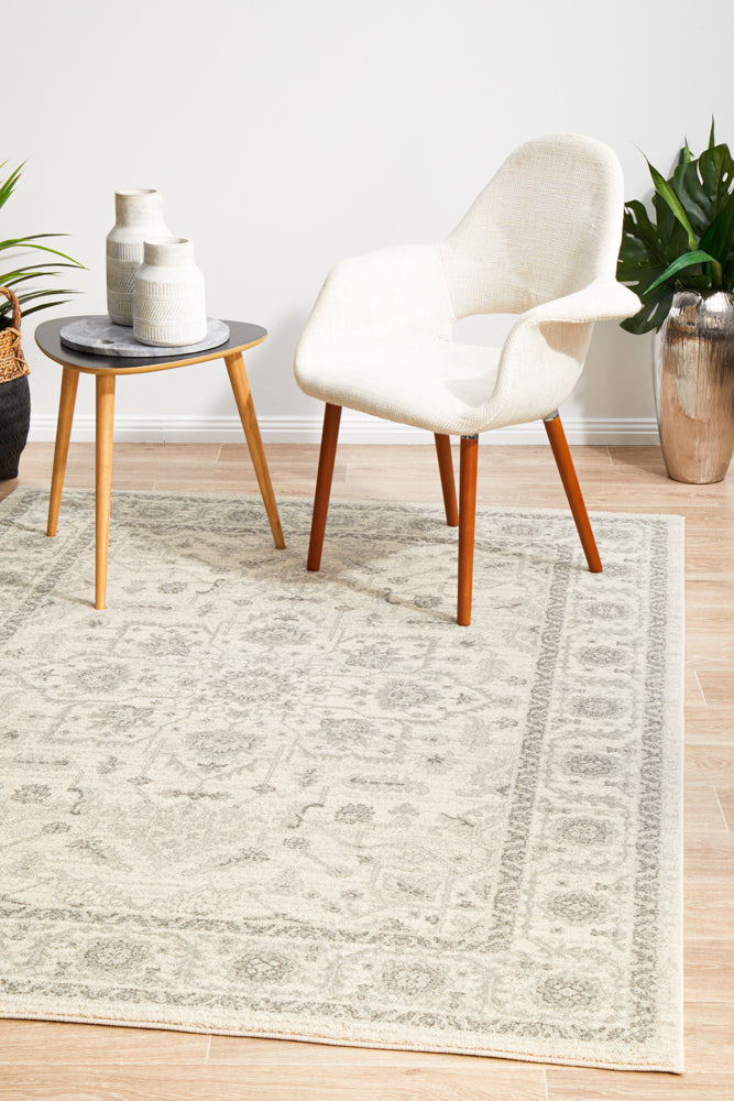 Summon Winter White Transitional Rug