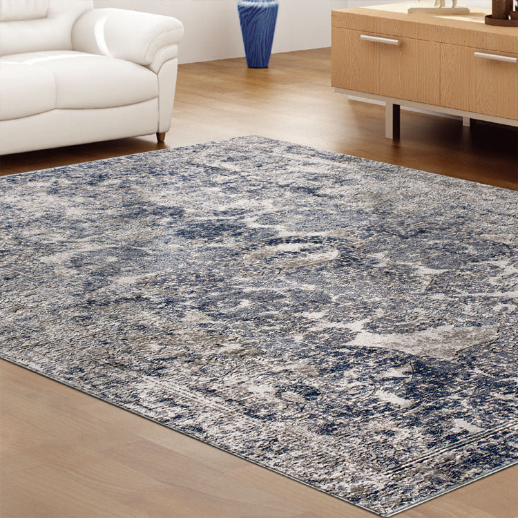 Heartburn Purpose Navy Runner Rug