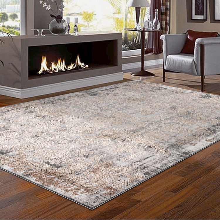 Heartburn Motive Grey Rug