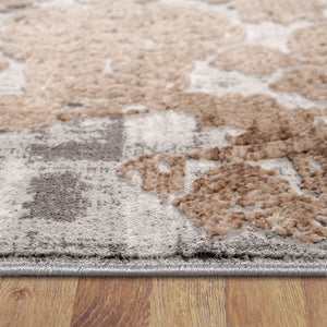 Heartburn Motive Grey Runner Rug