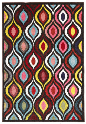 Lorenzo Modern Multi Coloured Runner Rug