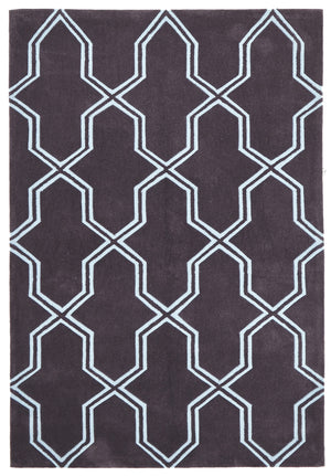 Neo Lattice Design Rug Smoke