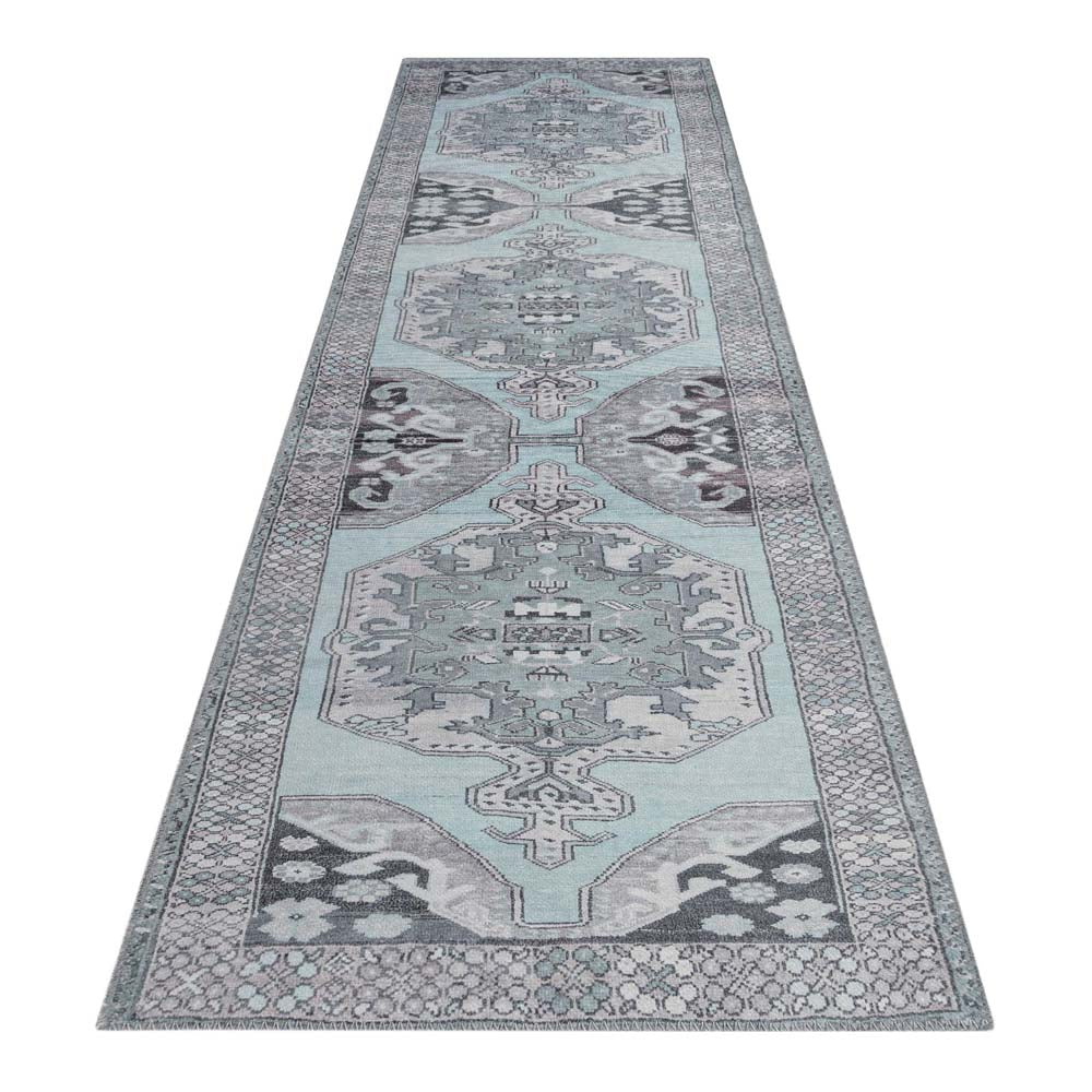 Hyla Truss Light Blue Runner Rug