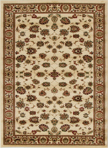 Traditional Floral Design Ivory Rug